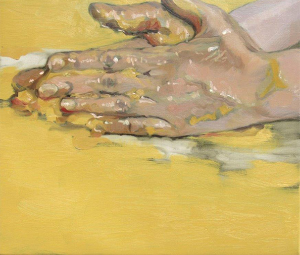 CELESTE CHANDLER  The Yellow Hands Oil on linen
